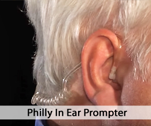 Man's er close up - Ear Prompter - Philly