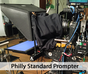 Philly Standard Prompter unit on set
