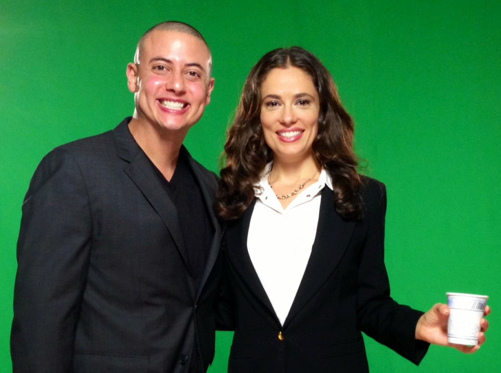 Mike Gonzales & Laura Williams Interrotron Experts on green screen