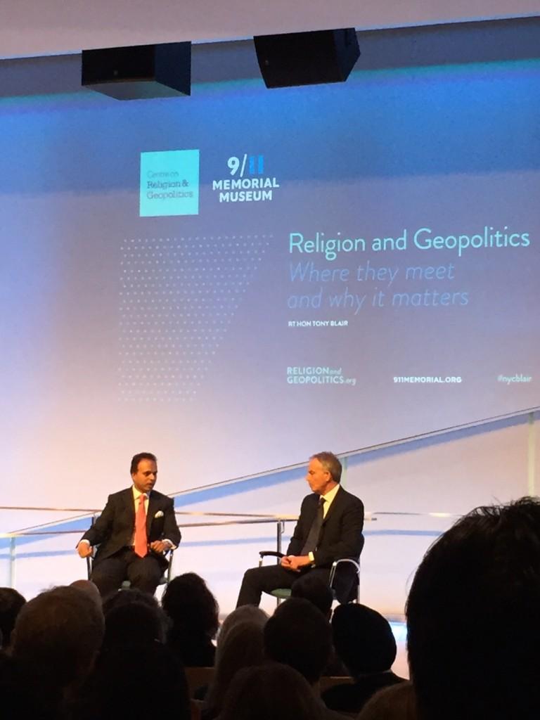 Tony Blair at Religion and Geopolitics event