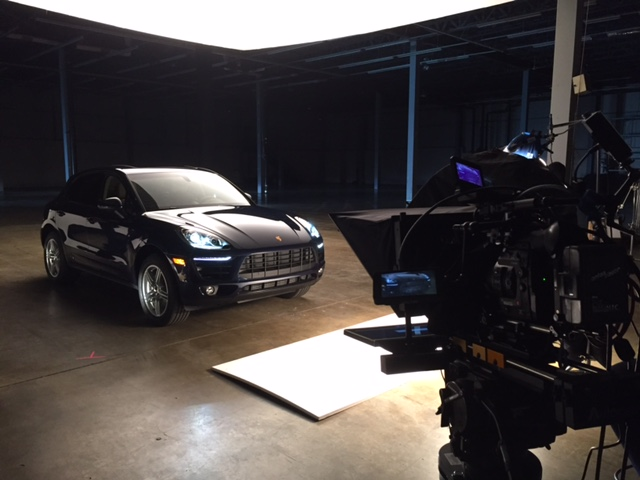 Teleprompter setup at Jaguar LandRover USA