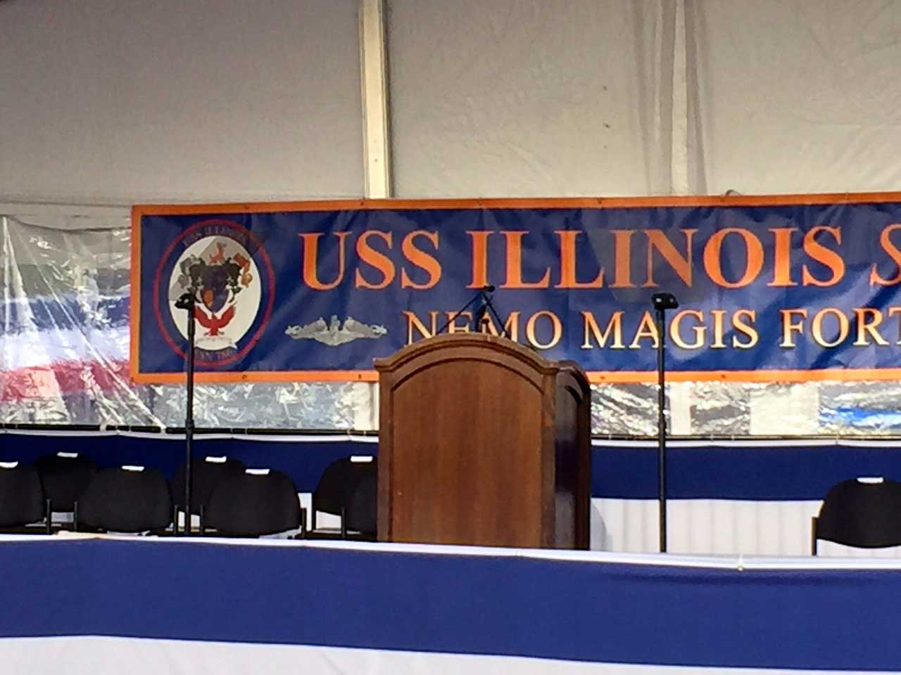 USS ILLINOIS COMMISSIONING CEREMONY - PRESIDENTIAL TELEPROMPTER