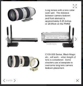 Folding Mark e Camera & Lens Size