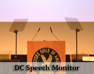 Presidential Teleprompter - DC Speech Monitor