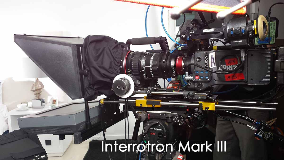 Interrotron Mark III on tripod with camera and long lems
