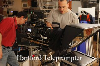Teleprompter on set - crew members - Hartford