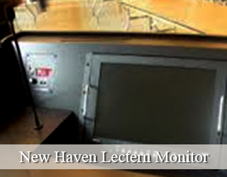Lectern Monitor set on podium hidden from view - New haven