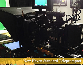 Standard Teleprompter on set - New Haven