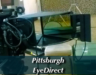 EyeDirect unit on set - Pittsburgh