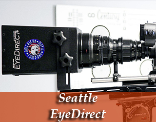 Seattle EyeDirect - AMC logo on device