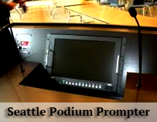 Podium Prompter hidden from view - Seattle
