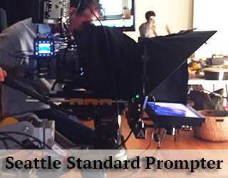 Standard Teleprompter device on set - Seattle