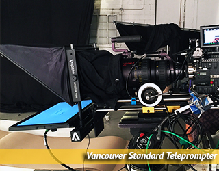 Standard Teleprompter unit on set - Vancouver