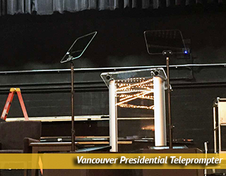 Presidential Teleprompter unit on set - Vancouver