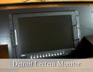 Lectern Monitor hidden on podium - Detroit