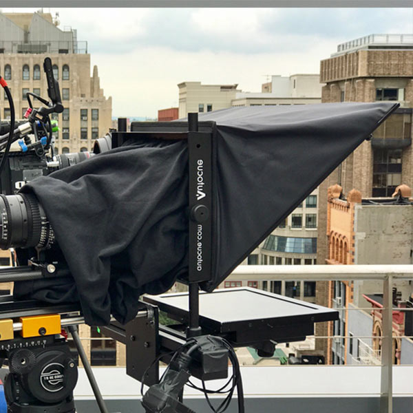Standard Teleprompter AutoCue on rooftop
