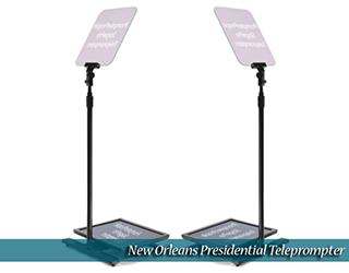 New Orleans Presidential Teleprompter (text on bottom screens visible)