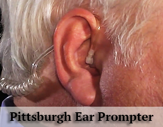 Close up of man's ear - Ear Prompter - Pittsburgh