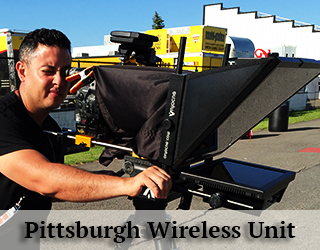 Wireless Unit on the roof - Michael Gonzalez operates it