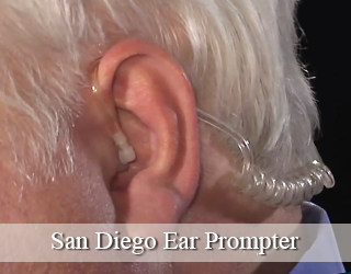 Close up of man's ear - Ear Prompter - San Diego