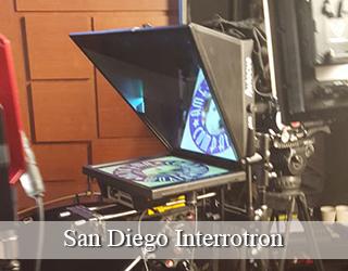 Interrotron setup indoors - San Diego