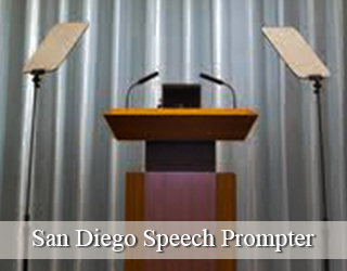 Presidential Teleprompter and Podium - San Diego
