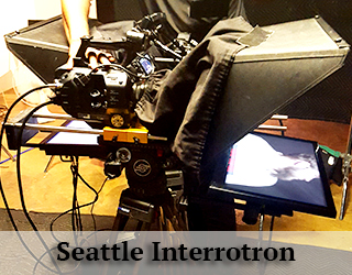 Interrotron on set - other equipment - Seattle