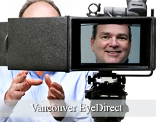 Man on screen of EyeDirect unit - Vancouver EyeDirect