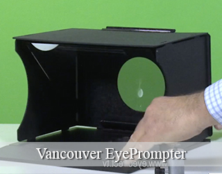EyePrompter unit - green background - Vancouver