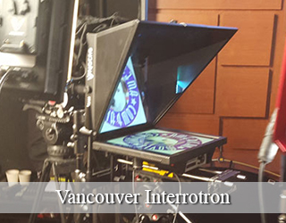 Interrotron unit on set - Vancouver