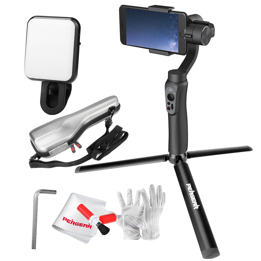 In Stock Zhiyun Smooth Q 3 Axis Handheld Gimbal Stabilizer With Tech Smartphone Aluminum Tripod Selfie Light For Iphone 7 6s Plus Samsung S8 S7 Teleprompter Rental