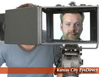 Kansas City EyeDirect - man's face on screen