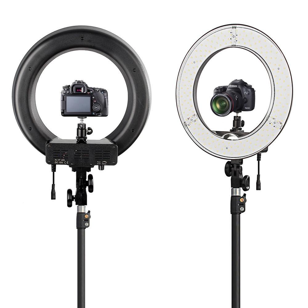 Led Ring Light Studio: LED Ring Light For Camera Photo/Studio/Phone/Video 12″55W