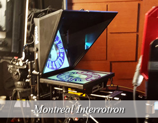 Interrotron setup in studio - Montreal