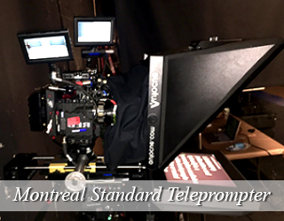 Standard Teleprompter and screens on set - Montreal