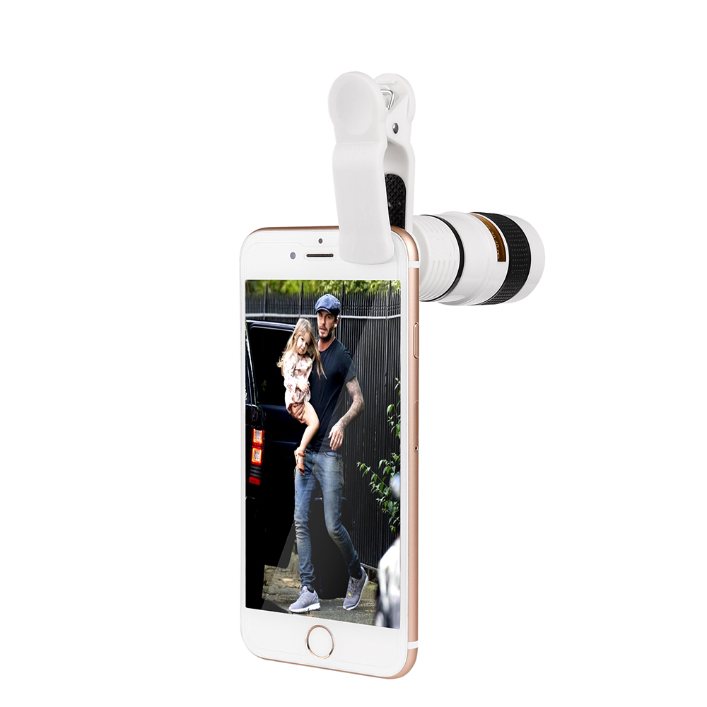 Powstro Camera lens for iPhone 6 6s 8X Zoom Telescope Telephoto Camera Lens with Clip for Samsung & for HTC and Other smartphone | Teleprompter Rental