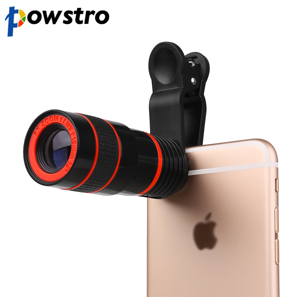 ... 6s 8X Zoom Telescope Telephoto Camera Lens with Clip for Samsung & for HTC and Other smartphone. 🔍. Powstro Camera Lens