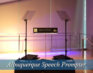 Speech Prompter and podium setup - Albuquerque