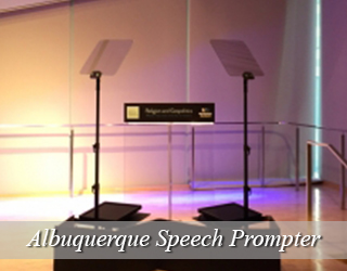 Speech Prompter and Podium in studio - Albuquerque