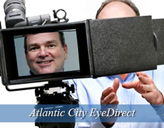EyeDirect - Man seen on screen of device - Atlantic City