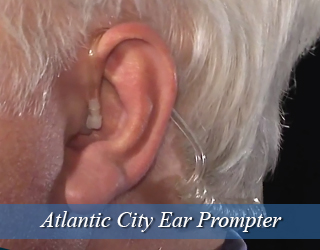 Man's ear with Ear Prompter inserted - Atlantic City
