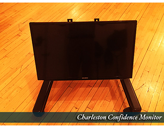 Confidence Monitor Setup on the floor