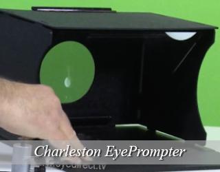 EyePrompter unit - green background - Charleston