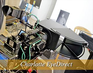 EyeDirect setup in studio - Charlotte