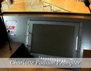 Podium Prompter hidden on podium - Charlotte