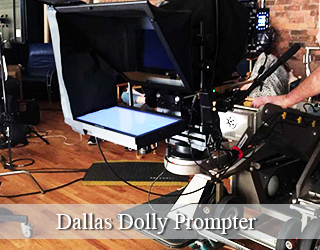 Dolly Prompter unit on set - Dallas