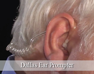 Ear Prompter - close up of man's ear - Dallas