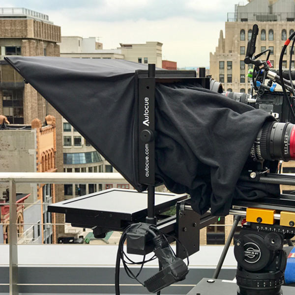 AutoCue on rooftop - back view