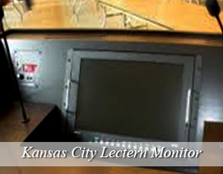 Lectern Monitor - hidden in podium - Kansas City
