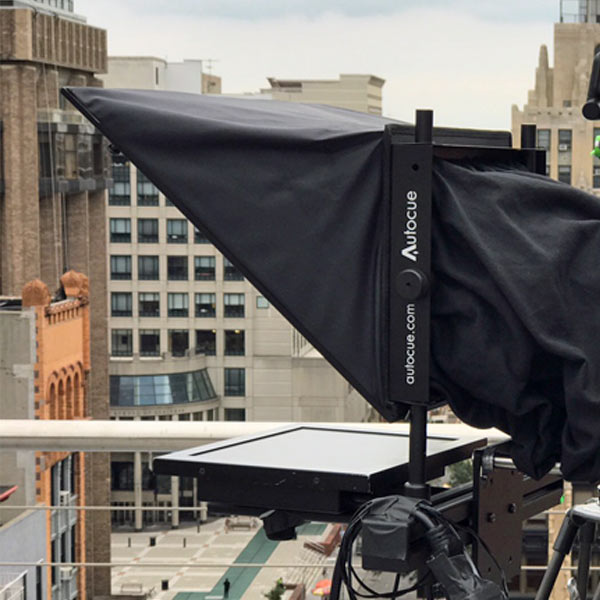 Teleprompter on roof